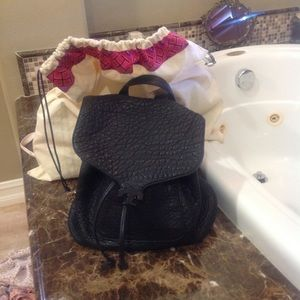 Black Tory Burch pebbled leather Backpack bag